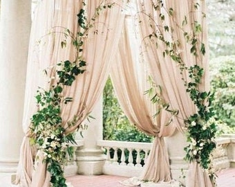 Preorder / Wedding Arch Fabric Drape / Georgette Draping Fabric for Wedding Backdrop / Photography background / wedding arch tree decor