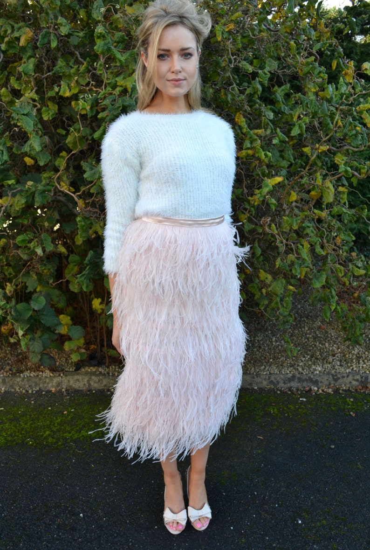 2a20eb6df Ostrich feather skirt / midi mini maxi knee length / wedding | Etsy