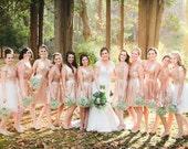 Short Sequin Bridesmaids Dress / Rose Gold Sequin Bridesmaids Dress / 'Rosalie' / flared skater dress / blush bridesmaids dress / sparkly