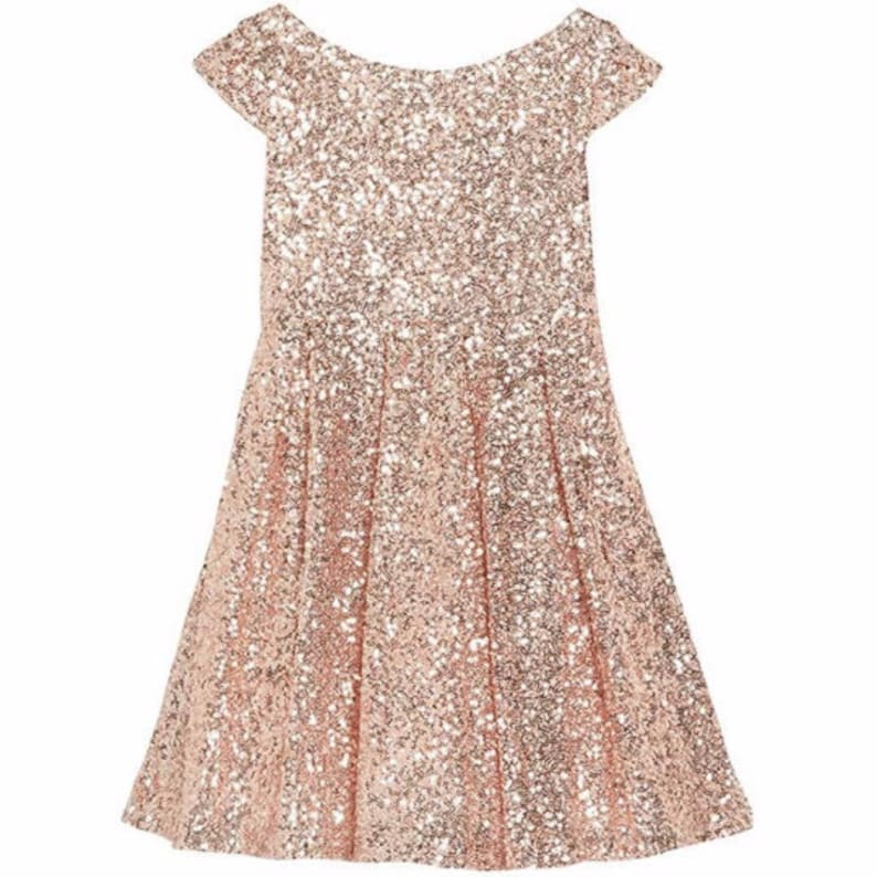 0c2cf1728370 Sequin flower girl dress   Junior bridesmaid   sparkly little