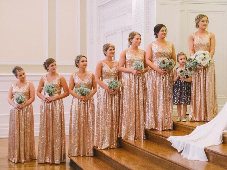 e3cc03eb26 Rose gold bridesmaid dress    Rosie    Sequin