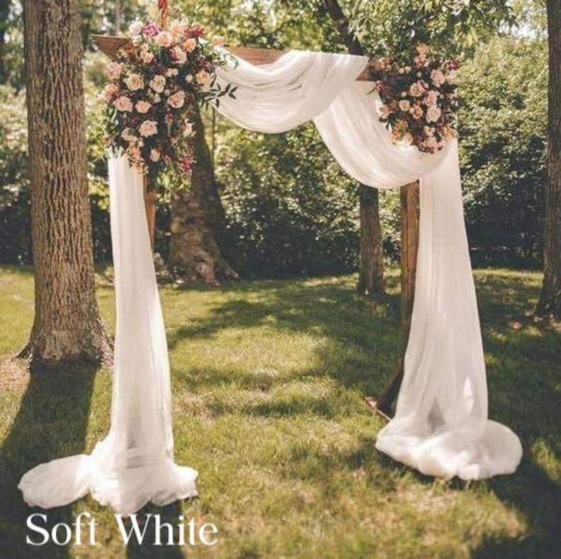 Hochzeitsbogen Stoff Soft White