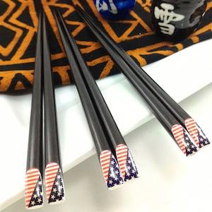 Stick for hair or sushi serving A Fancy wooden chopsticks wedding favor. Luxury Chopsticks Fancy Black