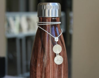 Spinning Circles Pendant in Sterling Silver