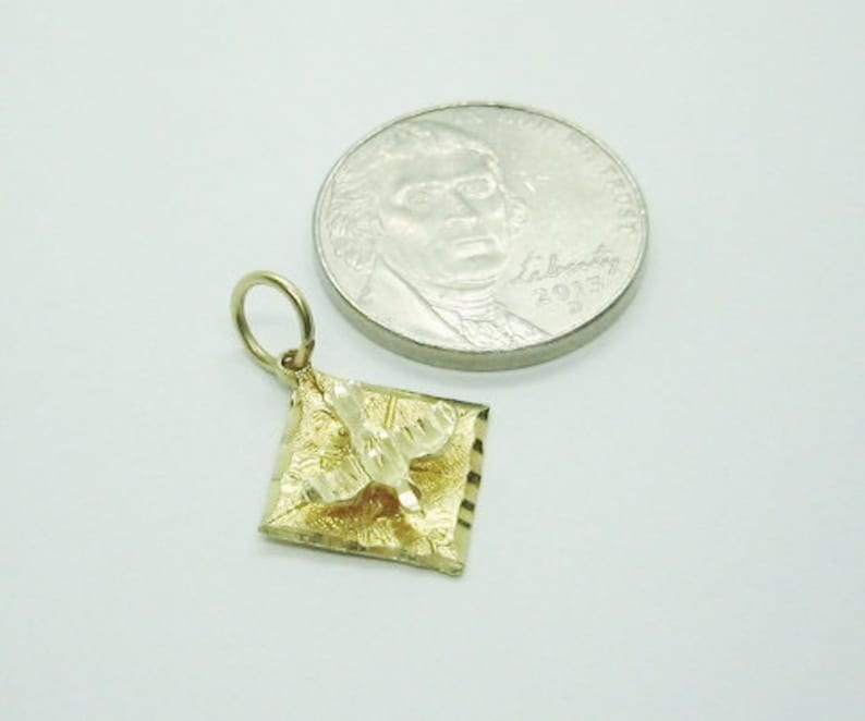 Bird Charm or Pendent.. Best Offers Accepted ! 14K Solid Yellow Gold Great Gift Idea