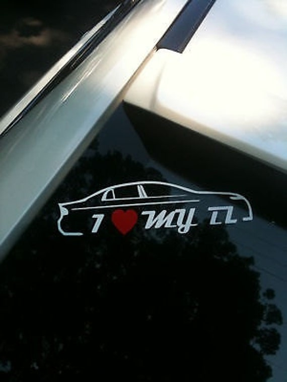 I Heart Love My TL Sticker Decal X Etsy - Acura stickers