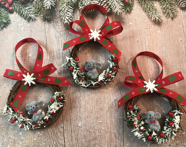 Delicieux Christmas Ornaments, Christmas Mouse Country Christmas Ornaments Handmade  Ornaments Country Mouse Ornament Set Tree Ornaments Mouse Ornament