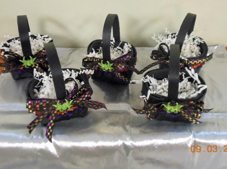 Halloween Party Favors Set of 5 Halloween Decoration Halloween Black Basket Halloween ornament Halloween Basket