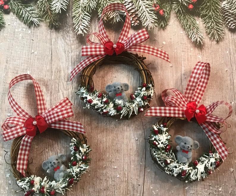 Country Christmas Ornaments.Christmas Ornaments Christmas Mouse Country Christmas Ornaments Handmade Ornaments Country Mouse Ornament Set Tree Ornaments Mouse Ornament