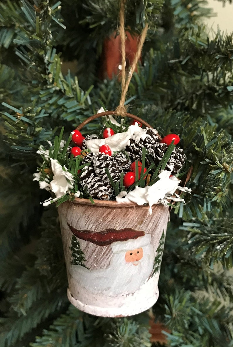 Christmas Ornaments Rustic Christmas Ornaments Country Christmas Ornaments Christmas Bucket Ornaments Country Christmas Decor