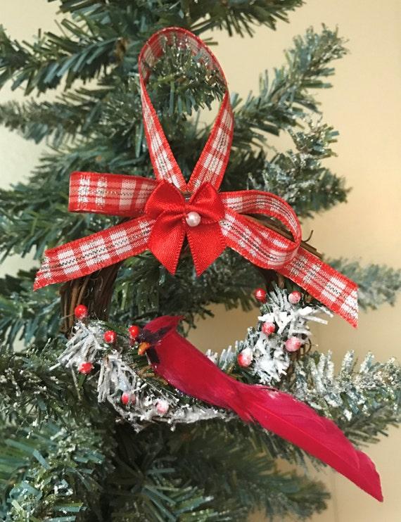 Country Christmas Decorations.Cardinal Christmas Ornaments Country Christmas Ornaments Cardinal Ornaments Bird Ornament Red Bird Ornament Handmade Ornament Cardinal Decor