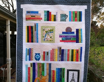 Bookcase Wall hanging or maybe a lap quilt.