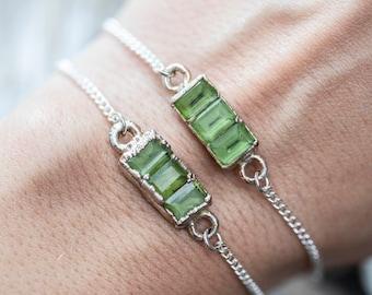 Triple Peridot Bracelet I, II