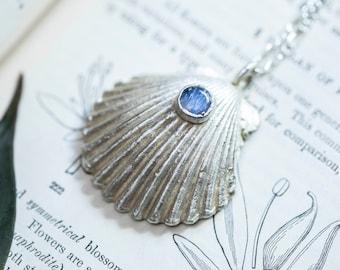 Moonstone Seashell Necklace