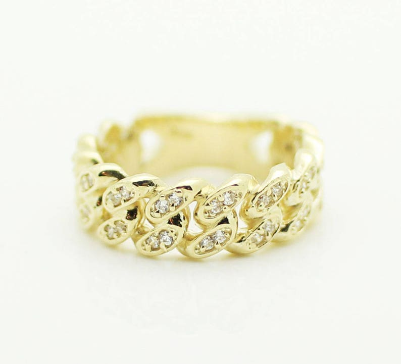 2a685daf34aa8 Miami Cuban Ring in 14K Yellow Gold with CZ