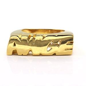 mens diamond ring  ian connor pastelle 14k yellow gold
