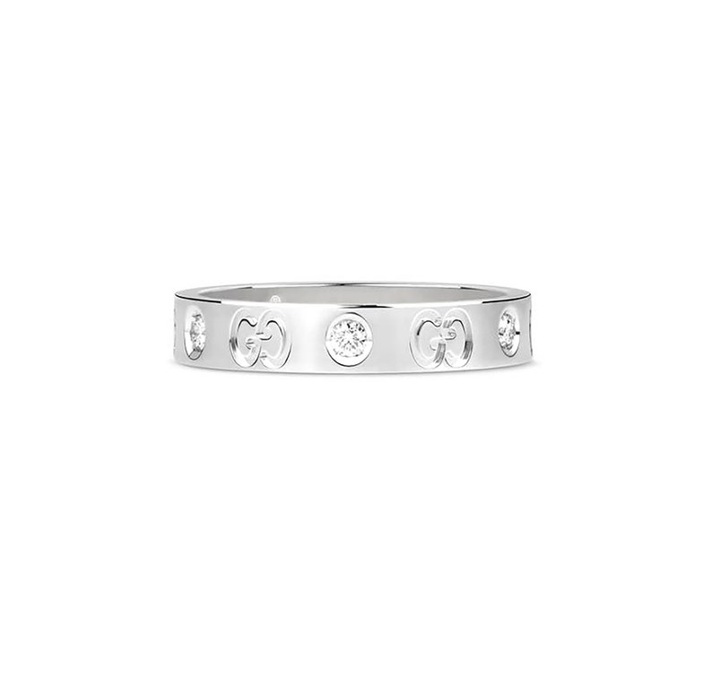 5d1b8c3ae Original Gucci Icon 18k White Gold Thin Band Ring New image 0 ...