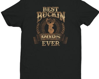 bddcc912 Best Buckin Pops Ever Shirt   Hunting Dad Tee, Gift for Father's Day  Stepdad T-shirt