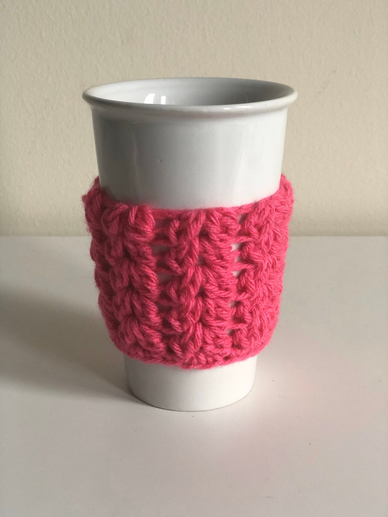 Crochet Travel Coffee Mug Cozies image 0