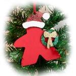 Santa Meeple, Meeple Christmas Ornament, Game Piece Ornament, Gaming Ornament, Meeple, Christmas Tree Ornament