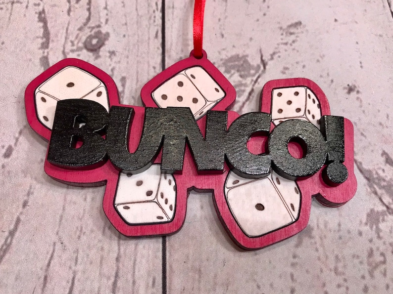 Bunco Game Christmas Ornament Game Piece Ornament Gaming image 0
