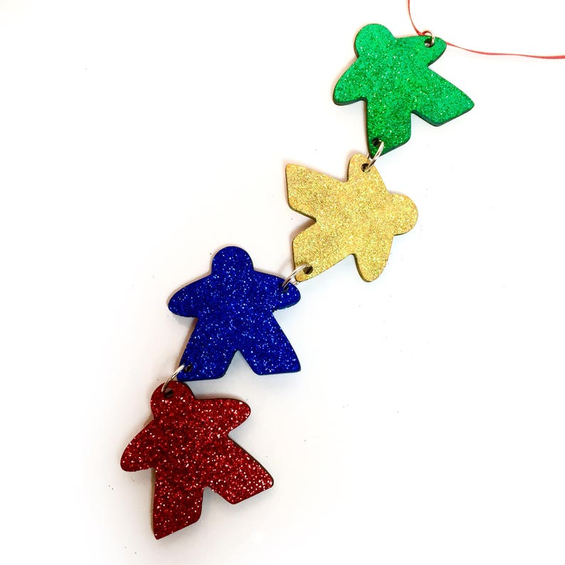 Meeple Christmas Ornament Game Piece Ornament Gaming image 0