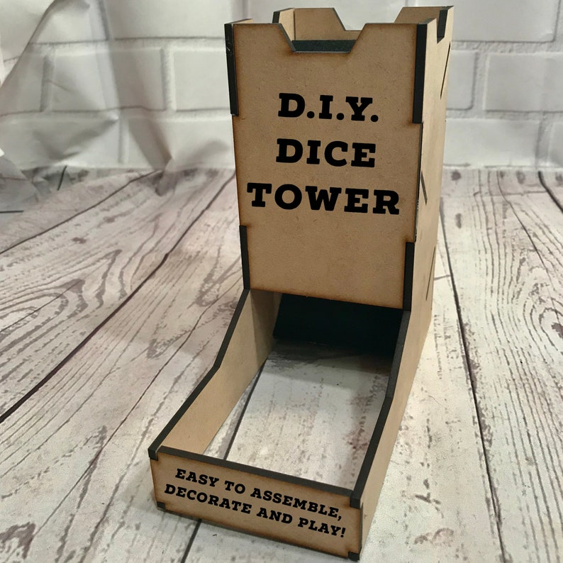 DIY Dice Tower Wood Dice Tower Dice Tower  You Assemble image 0