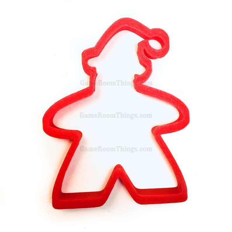 Meeple Cookie Cutter Santa Meeple Cookie Cutter Cookie image 0