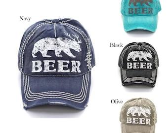 Beer Vintage Cap - Memorial Day Sale -  ORIGINALLY 18.00