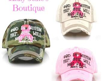 Vintage Pink Ribbon Caps - Memorial Day Sale -  ORIGINALLY 18.00