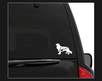 Cavalier King Charles Spaniel Love: Car Window Vinyl Decal - Laptop Sticker - Dog Breed - Dog Stickers - Cooler Decal - Gift for Dog Lover