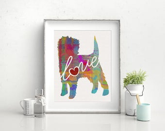 Affenpinscher Art Print - A Watercolor Style Modern Wall Art Print and Gift for Dog Lovers