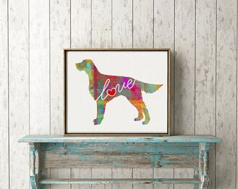 Irish Setter Art Print - A Watercolor Style Modern Wall Art Print and Gift for Dog Lovers