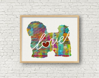 Maltese / Havanese  Art Print - A Watercolor Style Modern Wall Art Print and Gift for Dog Lovers