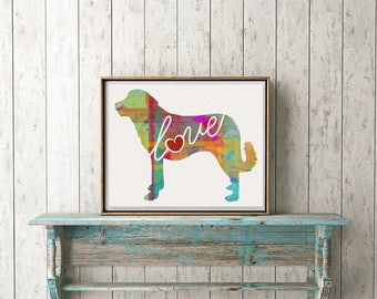 Anatolian Shepherd Love - A Colorful Watercolor Print - Gift for Dog Lovers - Pet Artwork - Pet Loss Gift - Memorial - Can be Personalized