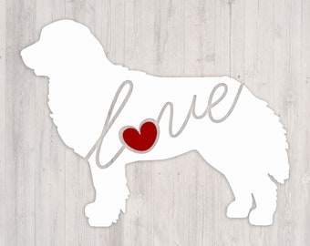 Bernese Mountain Dog Love: A Car Window Vinyl Decal - Laptop Sticker - Dog Breed Decals - Dog Stickers - Cooler Decal - Gift for Dog Lover