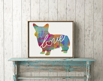 Welsh Corgi Art Print - A Watercolor Style Modern Wall Art Print and Gift for Dog Lovers