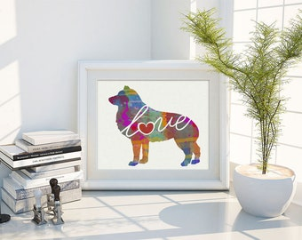 Schipperke Art Print - A Watercolor Style Modern Wall Art Print and Gift for Dog Lovers