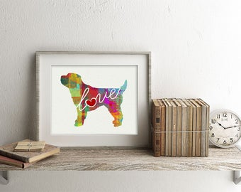Cockapoo / Cocker Spaniel Art Print - A Watercolor Style Modern Wall Art Print and Gift for Dog Lovers