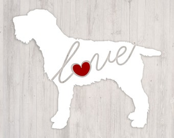 Wirehaired Pointing Griffon: A Car Window Vinyl Decal - Laptop Sticker - Dog Breed Decals - Dog Stickers - Cooler Decal - Gift for Dog Lover