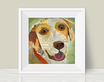 Collage Style Dog Art