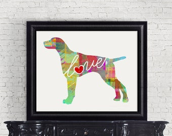 German Shorthaired Pointer Art Print - A Watercolor Style Modern Wall Art Print and Gift for Dog Lovers
