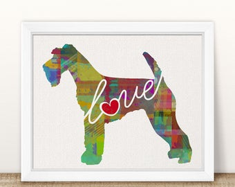 Airedale Terrier Art Print - A Watercolor Style Modern Wall Art Print and Gift for Dog Lovers