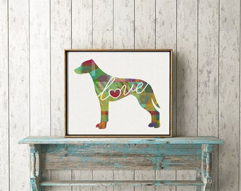 Rhodesian Ridgeback Art Print - A Watercolor Style Modern Wall Art Print and Gift for Dog Lovers