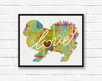 Pekingese Art Print - A Watercolor Style Modern Wall Art Print and Gift for Dog Lovers