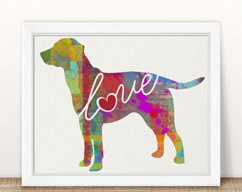 Lab / Labrador Art Print - A Watercolor Style Modern Wall Art Print and Gift for Dog Lovers