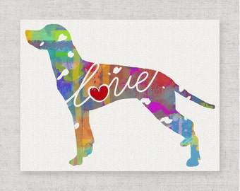 Dalmatian Art Print - A Watercolor Style Modern Wall Art Print and Gift for Dog Lovers