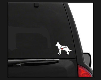 Belgian Malinois Love: A Car Window Vinyl Decal - Laptop Sticker - Dog Breed Decals - Dog Stickers - Cooler Decal - Gift for Dog Lover