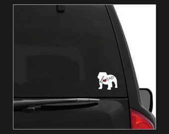 English Bulldog (Bully) Love: Car Window Vinyl Decal - Laptop Sticker - Dog Breed Decals - Dog Stickers - Cooler Decal - Gift for Dog Lover