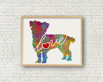 Mixed Breed Terrier - A Watercolor Style Modern Wall Art Print and Gift for Dog Lovers